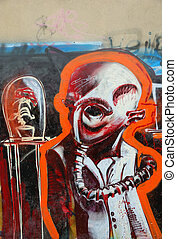 Abstract sranger graffity - abstract stranger graffity on...