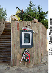 "Memorial plaque crew nuclear submarine ""Kursk"" near..."