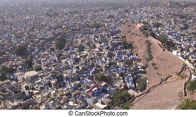 view to Rajasthan blue city Jodhpur from Mehrangarh...