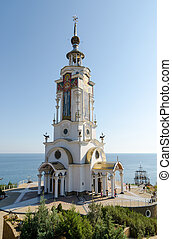Temple-Lighthouse St. Nicholas of Myra in the village Malorechen