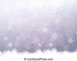 Snow Background - christmas snow background with bokeh blurs...