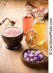 Aromatherapy. - Masage body oil. Aromatherapy oil, spa...