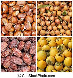 fondos, Otoñal, Colección, frutas