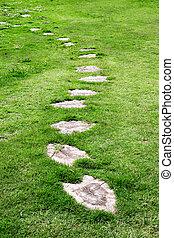 Garden stone path