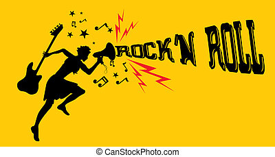rock music dancer girls vector art