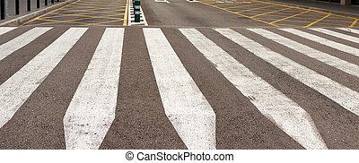 estrada, cidade, tráfego,  zebra,  Barcelona