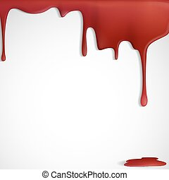 Dripping Red Blood. Vector Illustration. Eps 10.
