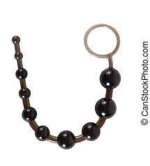 Black sex toy anal beads - Black sex toy - anal beads made...