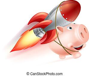 Rocket Piggy Bank