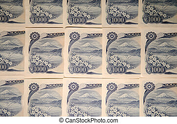 Japanese bill details - Background of japanese notes with...