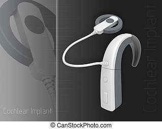 Cochlear Implant in colour background