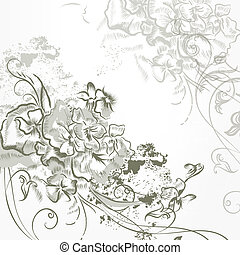 Fashion elegant vector background - Vector hand drawn...
