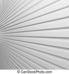 White plastic striped wall - background white plastic...