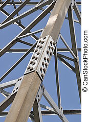 Steel structure truss against the sky