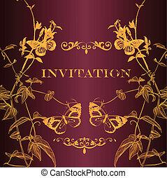 Vector invitation card for design