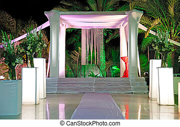 Jewish traditions wedding ceremony. Wedding canopy (chuppah...