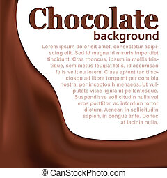 Chocolate background with copy space (vector illustration)