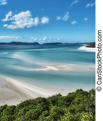 Great Barrier Reef, Australia. Wonderful Whitehaven Beach in...