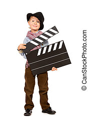 cinematography - Full length portrait of a cheerful boy...