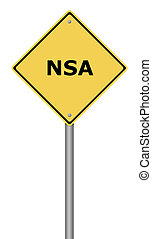 advertencia, señal, NSA