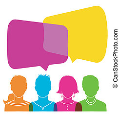 Dialog people - Vector illustration of Dialog people