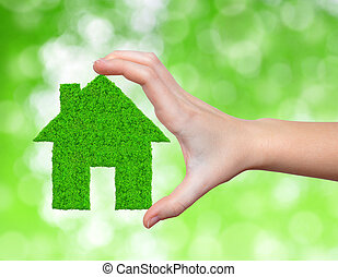 green house in hand