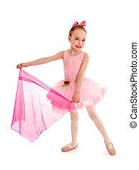 Ballerina Child in Pink Tutu - Four Year old Ballet Dancer...