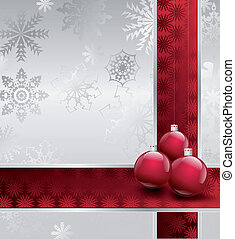 Illustration Image Of Christmas with balls. Vector