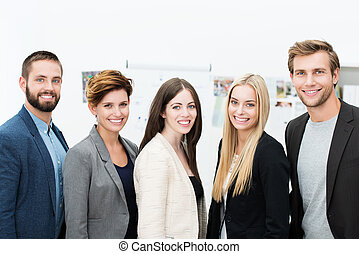 Successful business partners - Group of diverse successful...