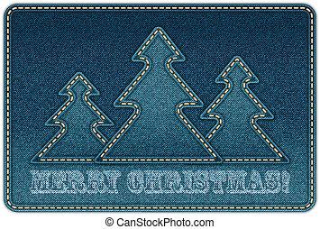 Christmas background. Denim background . eps10