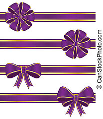 Purple ribbons - Set of purple ribbons