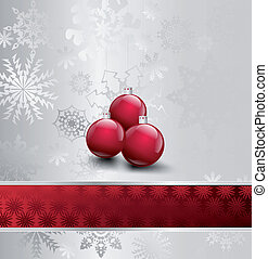 Illustration Image Of Christmas with ball. Vector
