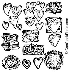 Doodle  Hearts, Valentine day
