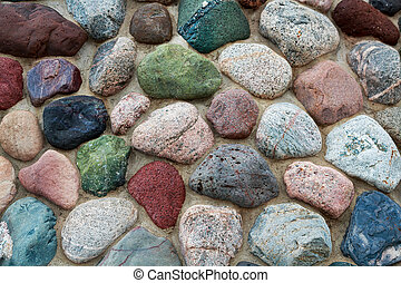 Stones of Color - This photographic still features a masonry...