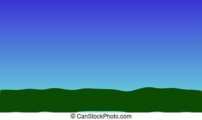 landscape composition with village