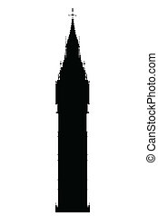 Big Ben Silhouette - The London landmark Big Ben Clocktower...