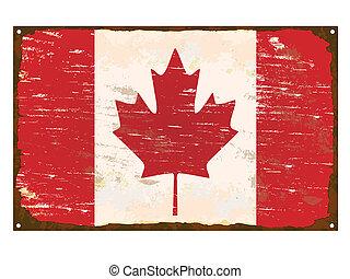 Canada Flag Enamel Sign