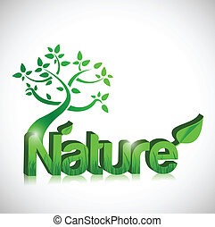 tree and nature concept illustration design