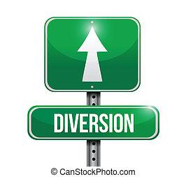 diversion road sign illustration design