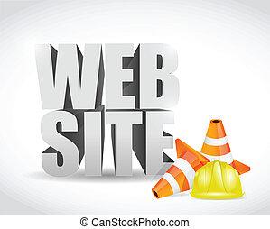 website under construction 3d text banner sign