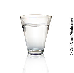 Realistic water glass Vector design
