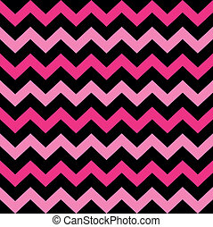 Cute Chevron seamless pattern black and pink - Fashion...