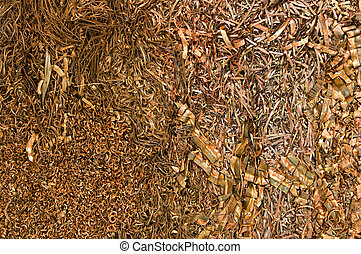 Copper shippings - A bale of recycling copper chips