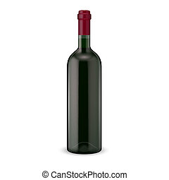Red wine bottle. - Glass red wine bottle. Vector...