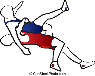 Wrestling suplay throw vector - Suplay throw in greco-roman...