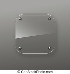 Glass icon. Vector eps10 - Glass icon. Realistic glass....