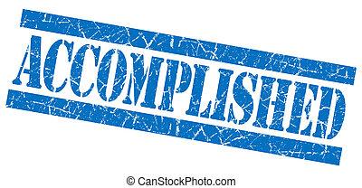 Accomplished grunge blue stamp