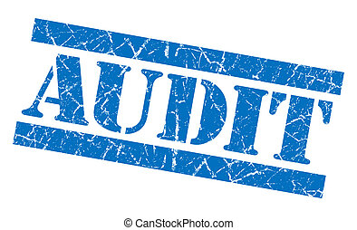 Audit grunge blue stamp