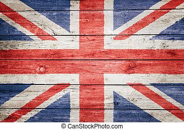british flag on wood
