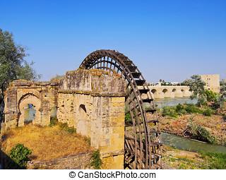 Watermill in Cordoba, Spain - Molino y Noria da la Albolafia...